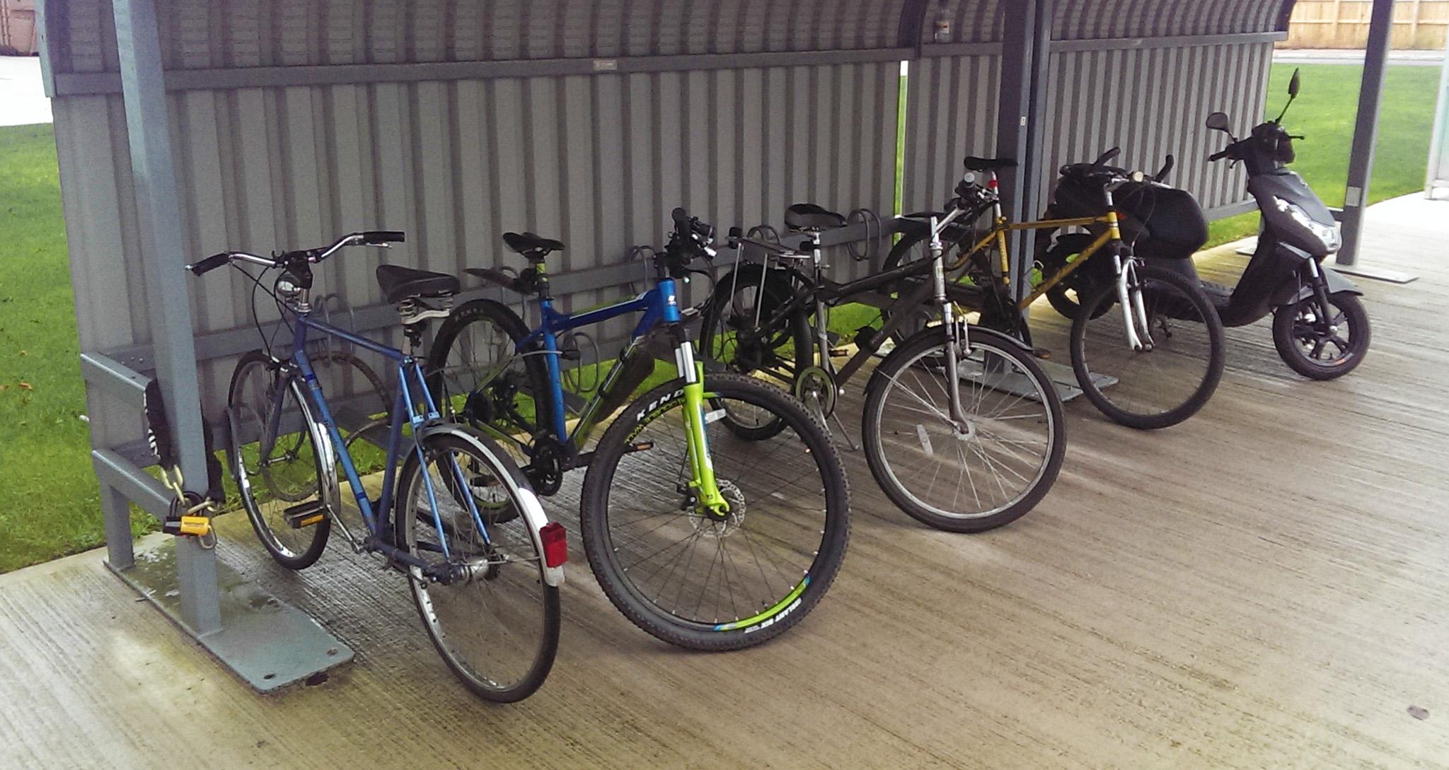 Der Fahrradstand auf meiner Arbeit