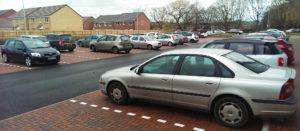 Der Parkplatz auf meiner Arbeit