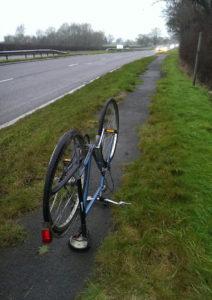 Fahrrad Reifenpanne Stafford Stone