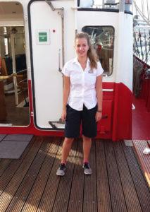 Joana als Crewmitglied auf der Mercedes