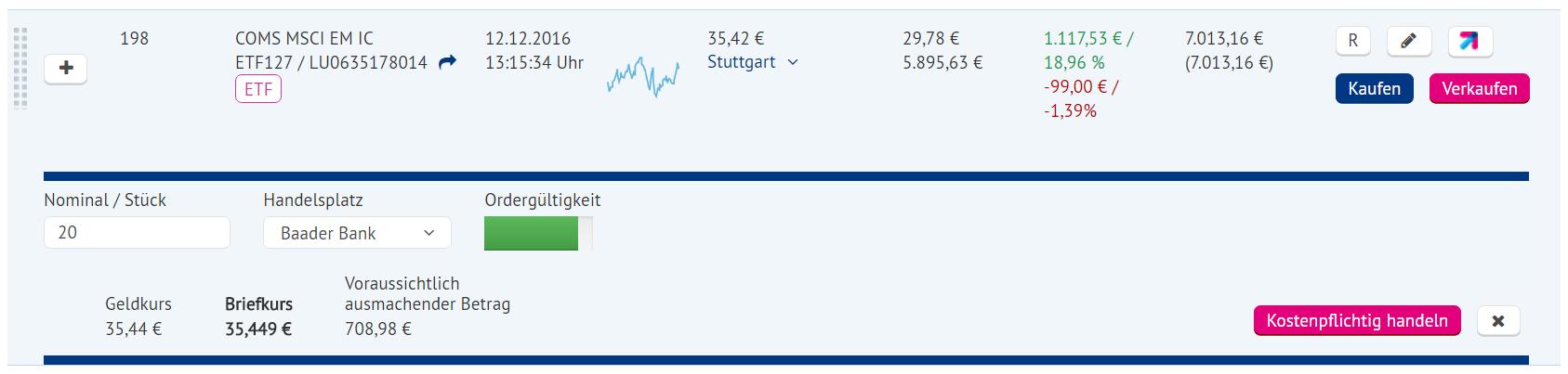 aktien geldkurs briefkurs