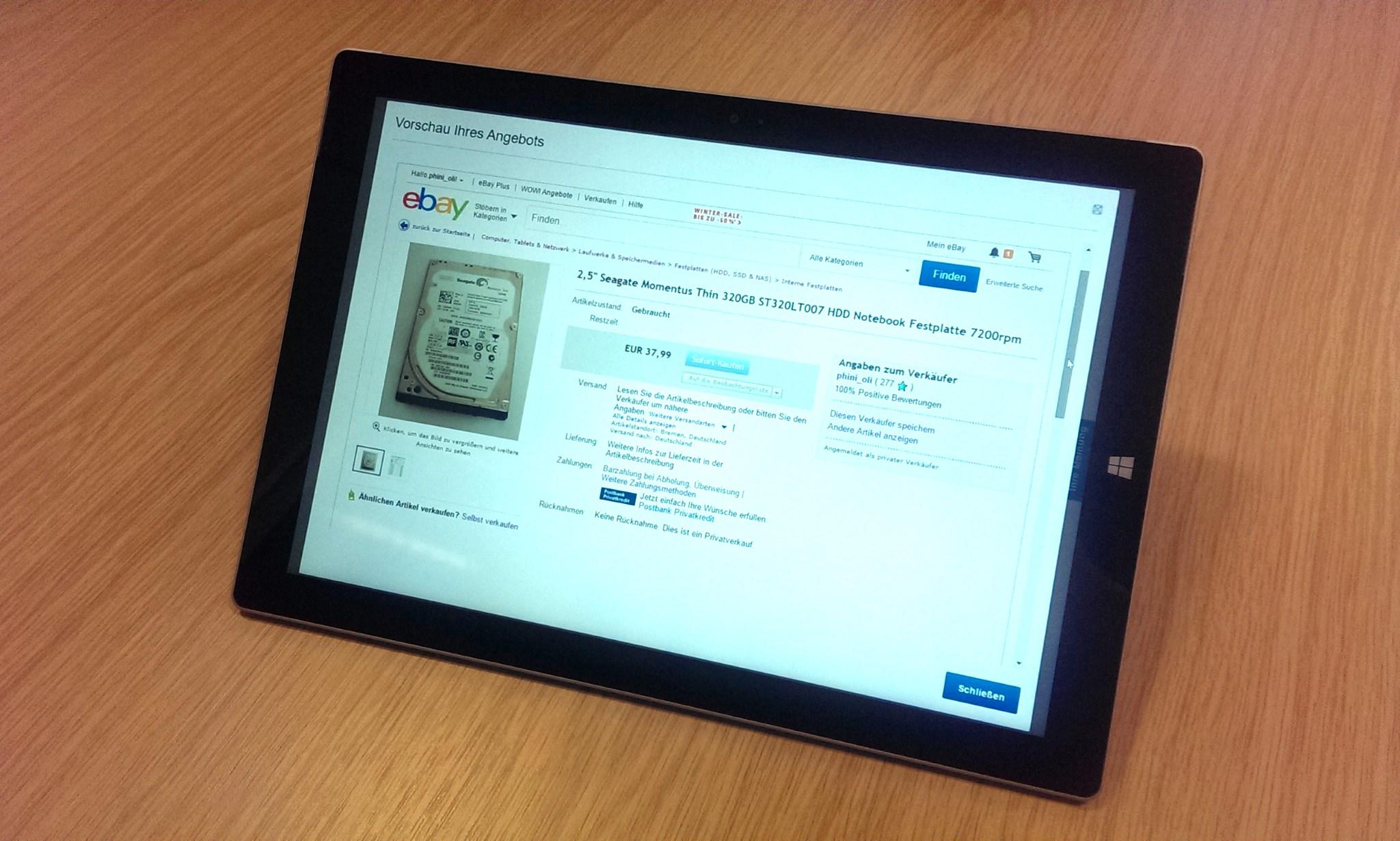 Ein Angebot bei eBay einstellen