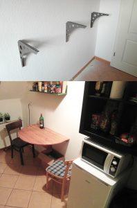 IKEA-Regal an die Wand montiert