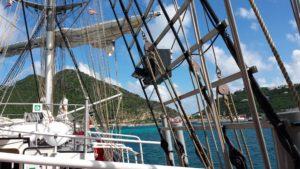 Das Segelschiff Mercedes in der Karibik