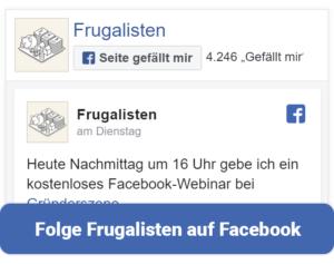 Frugalisten bei Facebook