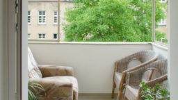 Balkon von der Küche aus