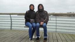 Joana und Oliver am Meer