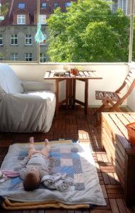 Balkon nach der Umgestaltung Wohnung Hannover