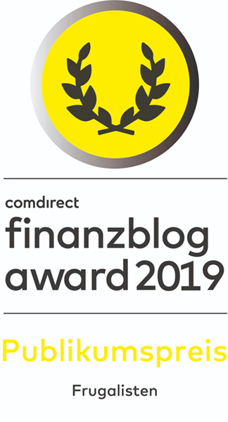 comdirect finanzblogaward 2019 Publikumspreis
