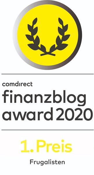 comdirect finanzblogaward 2020 1. Preis